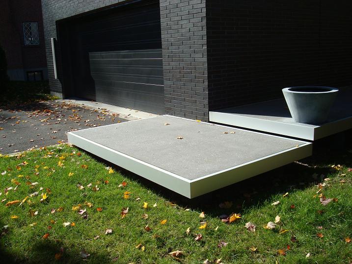 Marche patio fibro ciment copal gfrc for Marche pour patio