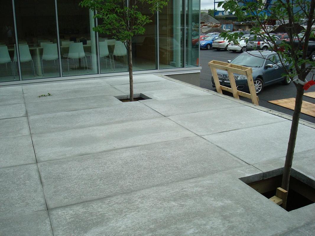 Terrasse fibro ciment copal et panneau decoratif gfrc for Panneau ciment exterieur